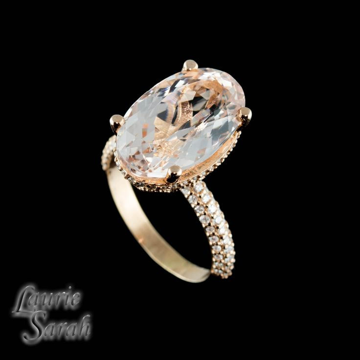 Our Blake Lively Inspired 7 Carat Morganite Engagement