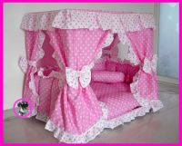 Gorgeous Luxury Princess Pet Dog Cat Puppy Bed House Pink ...