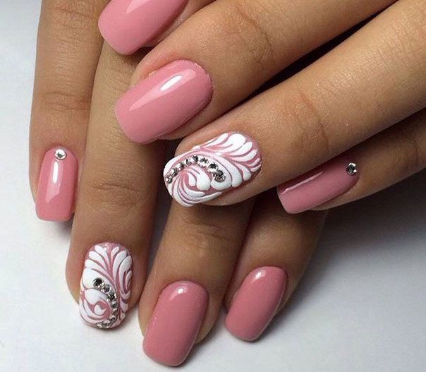 25+ best ideas about Two color nails on Pinterest