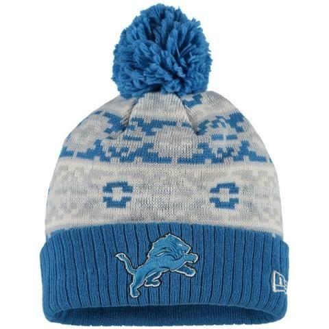 nfl detroit lions retro chill knit hat by new era