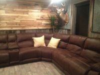 PALLET WALL/ BARN WOOD/TIN IN BASEMENT | Western ...