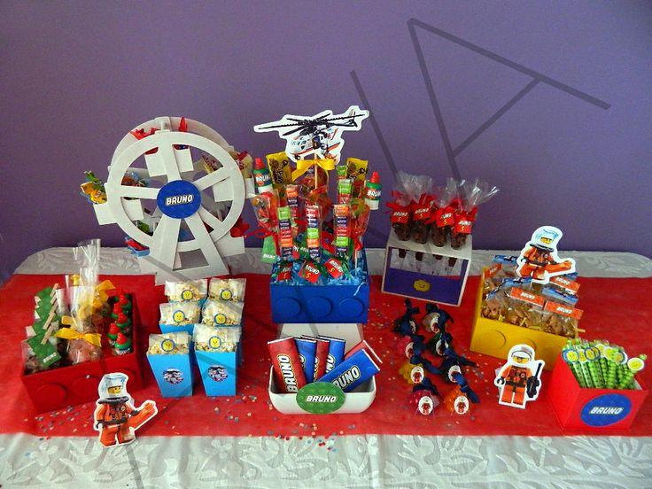 Mesa de dulces Tema LEGO  Mesa de dulces  Pinterest