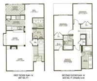 Modern Town House Two Story House Plans Three Bedrooms. #
