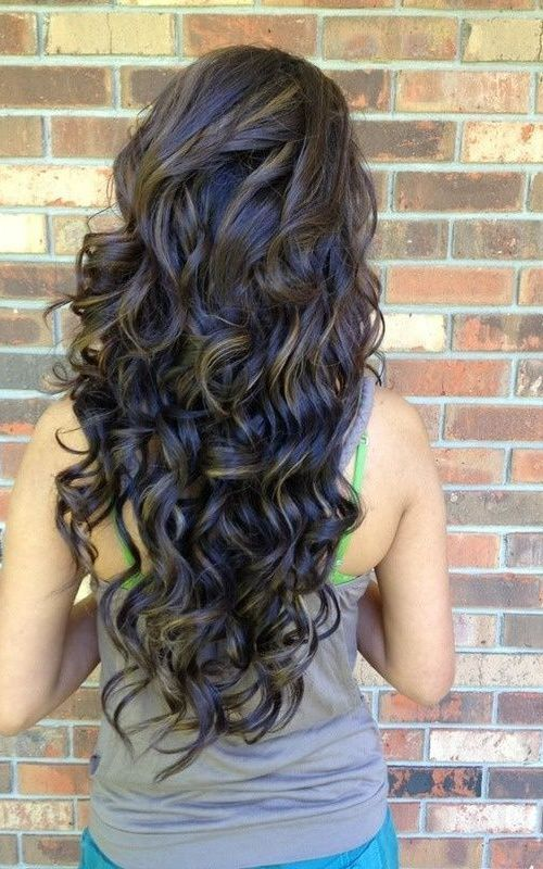 25 Best Ideas About Long Permed Hairstyles On Pinterest