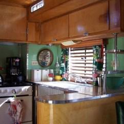 Retro Kitchen Tile Backsplash Stores Interior Of A 1950 Westcraft   Travel Trailer Pinterest ...
