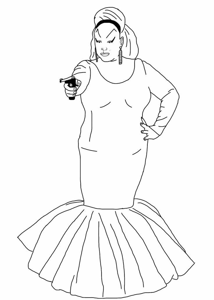 Janis Joplin Sketch Coloring Page