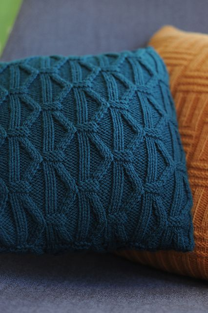 Knitted pillow covers  Knit Pillows  Pinterest