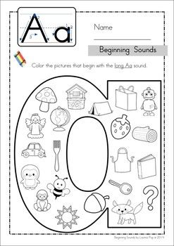 Beginning sounds, Coloring and Cases on Pinterest