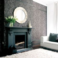 Paint Color Ideas Living Room Accent Wall Bookshelves In Fireplace | Wallpaper Minded Pinterest ...