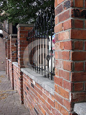 96 best images about Wood and Brick Fences on Pinterest  Picket fences Front yards and White fence