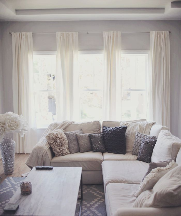 25 Best Ideas about Grey And White Curtains on Pinterest  Cozy apartment decor Living room