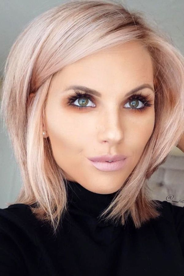 30 Medium Length Layered Hairstyles Blunt Cut Hairstyles Ideas