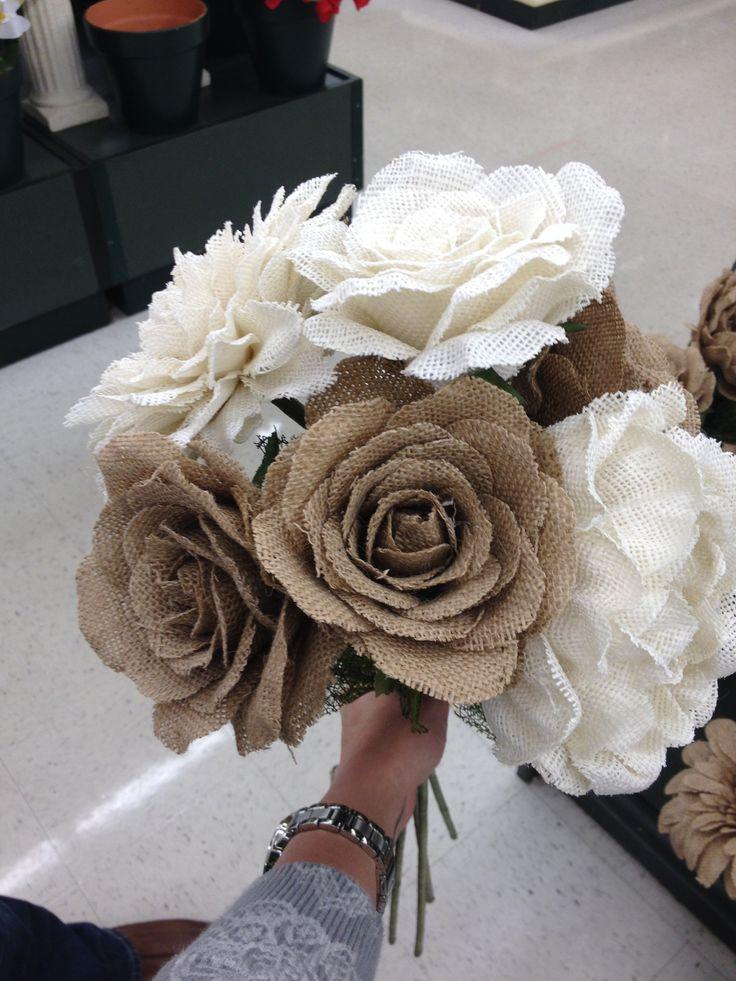 Burlap Flowers Hobby Lobby  Wedding  Pinterest  Burlap flowers Burlap and Flower