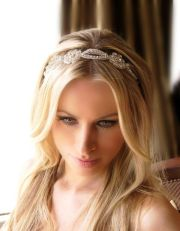 bridal hair with headband