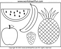 Fruits Coloring and Tracing