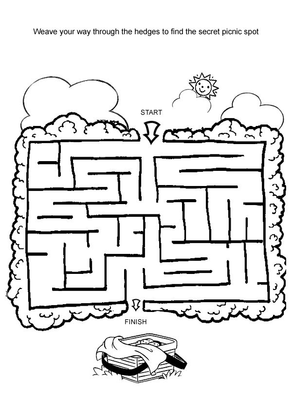 Maze, Picnic foods and Medium on Pinterest