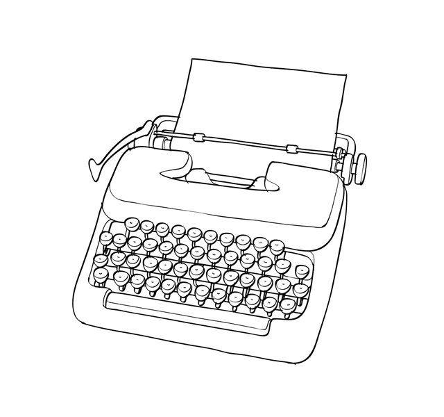 536 best Typewriters illustrations images on Pinterest