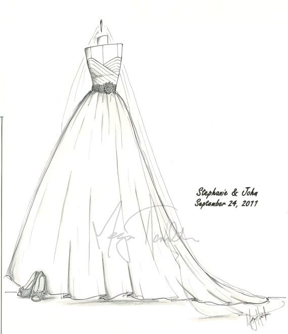 Custom Wedding Gown Sketch By Gownsketch On Etsy