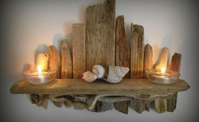 Driftwood Shelf From Just Beachy Coastal Crafts