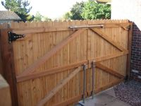 25+ best ideas about Wood fence gates on Pinterest   Fence ...