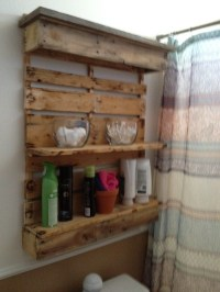 Bathroom shelf...I pallets! | Jose made it! | Pinterest ...