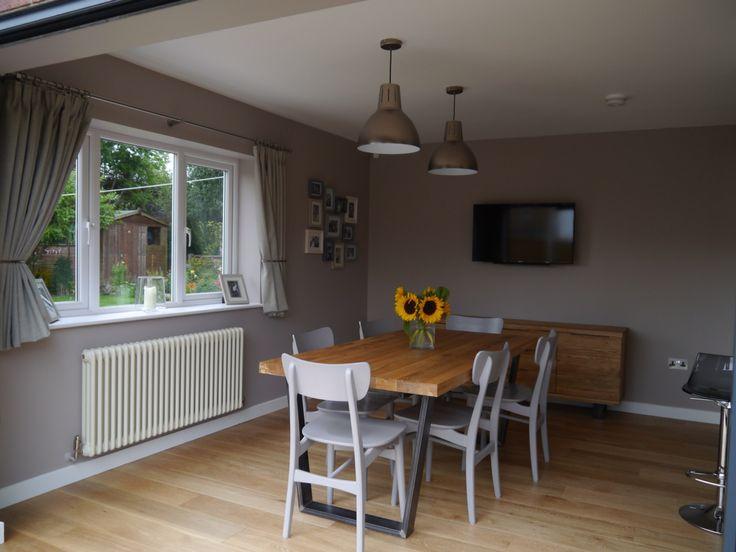 My new kitchendining room John Lewis Hampton silver pendants Asta dining chairs in mocha