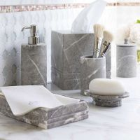 marble bathroom accessories Cloey Marble Bath Accessories ...