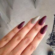 gold acrylic nails ideas