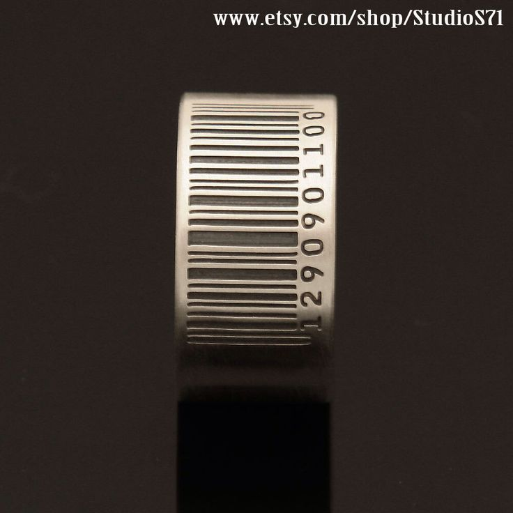 Barcode ring, word ring, love ring, name ring, message