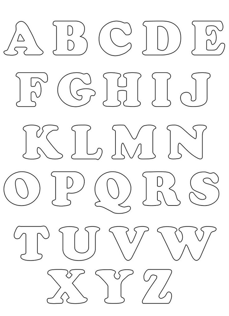 25+ best ideas about Alphabet Templates on Pinterest