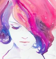 fashion print watercolor