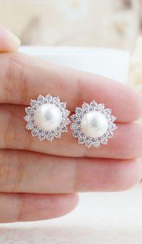 17+ best ideas about Pearl Earrings on Pinterest | Pearl ...