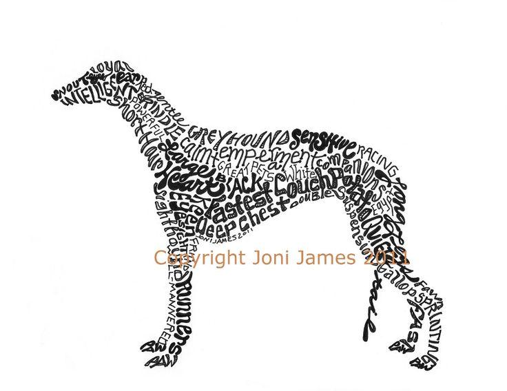 22 best Greyhound art images on Pinterest