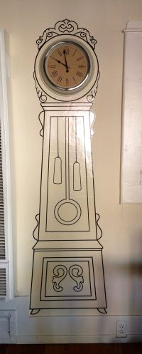Grandfather Clock wall sticker from IKEA | My DIY. My ...