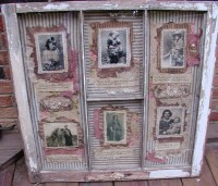 Collages in a Vintage Chippy Window Frame | Shadow Box ...