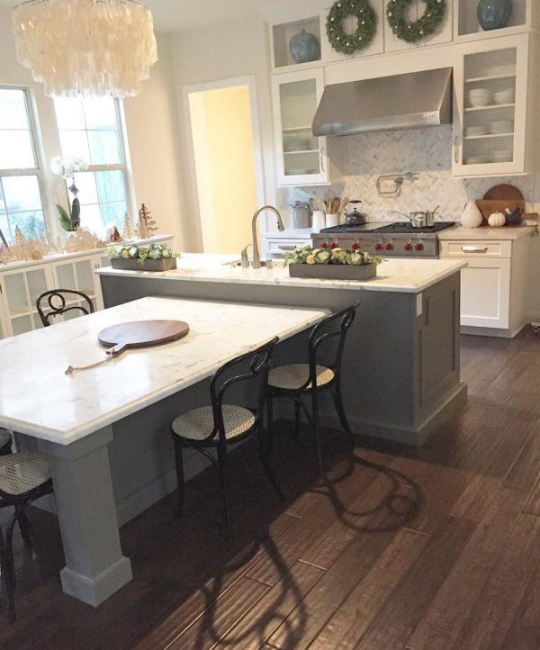 25 best ideas about Kitchen Island Table on Pinterest