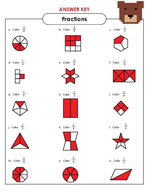 Basic Fractions Worksheet