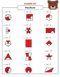 Basic Fractions Worksheet