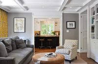 grey family rooms   room design ideas with grey wall paint ...