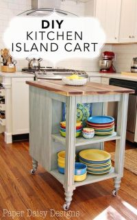 Rolling Kitchen Island Diy - WoodWorking Projects & Plans