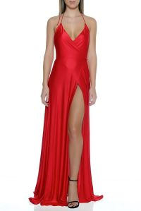 red satin dresses - Dress Yp
