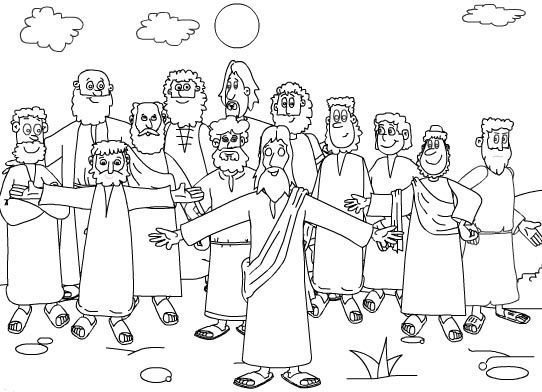 1000+ images about The Twelve Disciples Coloring Pages on
