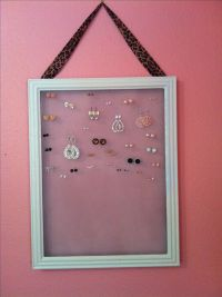 Homemade earring holder. #diy #jewelry | Everything else ...