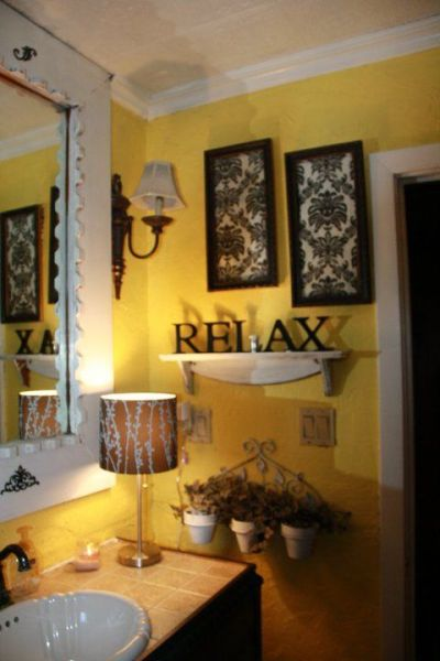 yellow and grey bathroom mirror BLACK AND YELLOW BATHROOM. The blak will tone done the