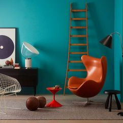 Mid Century Egg Chair Style Chairs Blågrønn Skyller Inn Over Landet | Maling - Innendørs Interiør Jotun/lady