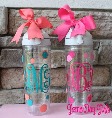 monogrammed tervis tumbler plus polka dots … this is on my Christmas list :o)
