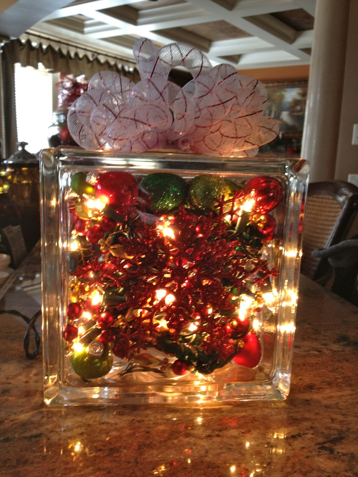 Glass Block Christmas Light Decorations Bprupp Happy2020newyear Info