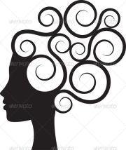 silhouette of woman's profile