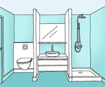 Plan Petite Salle De Bain Avec Wc | Balcon