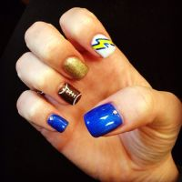 San Diego charger nails | Nail and Toe nail designs to Try ...